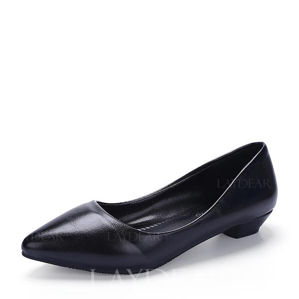 3384e590ab4880 Femmes Similicuir Talon bas Bout fermé chaussures (085150517 ...