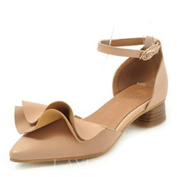 f67a4d95 Sandalias Zapatos Mujer Cuero De Cerrados Con Acanalada Tacón Ancho ...