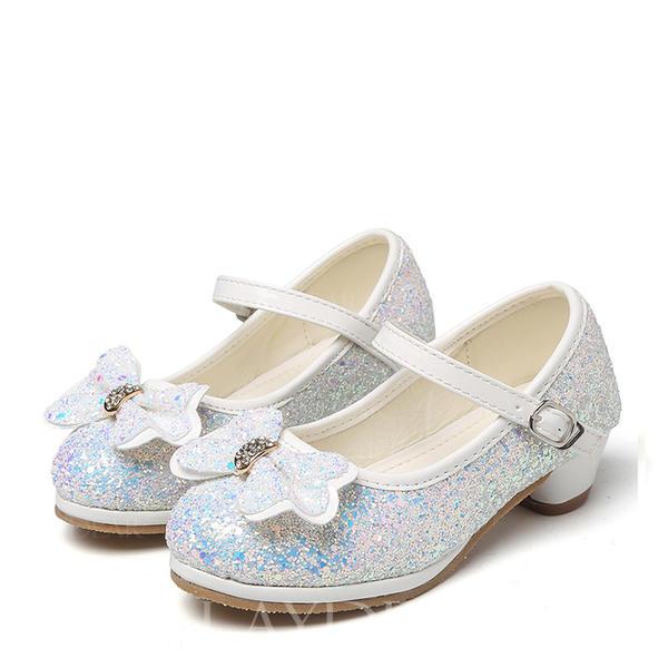 8772b88a008 Στρογγυλά παπούτσια Γοβάκια Κορίτσι λουλουδιών Με Bowknot Τεχνητό διαμάντι