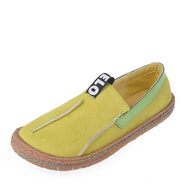 28fce59fc79 Dámské Semiš Placatý podpatek Boty Bez Podpatku Uzavřená Špička S Ze dvou  částí obuv