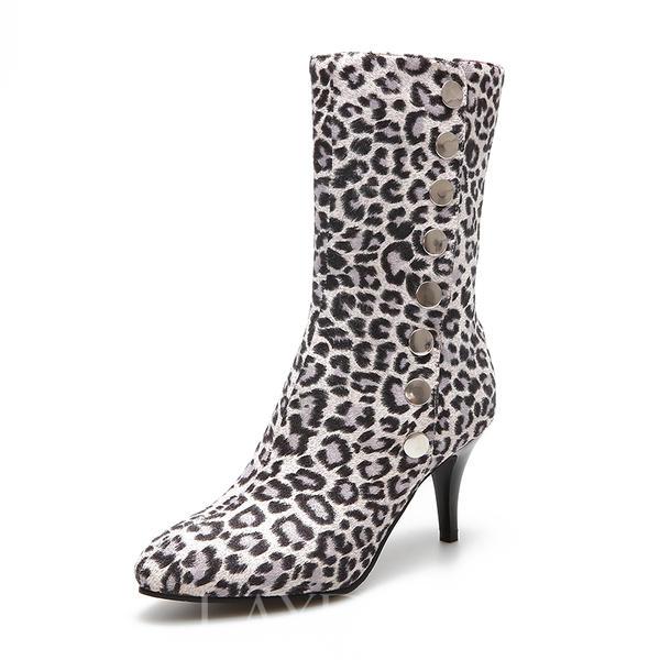 c7a492c6 De mujer Ante PU Tacón stilettos Salón Botas Botas longitud media con  Botones zapatos