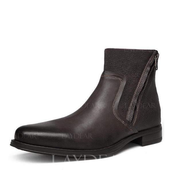 b86b236dc [US$ 62.99] Chelsea Avslappet Egte Lær Menn Boots til herre - Laydear