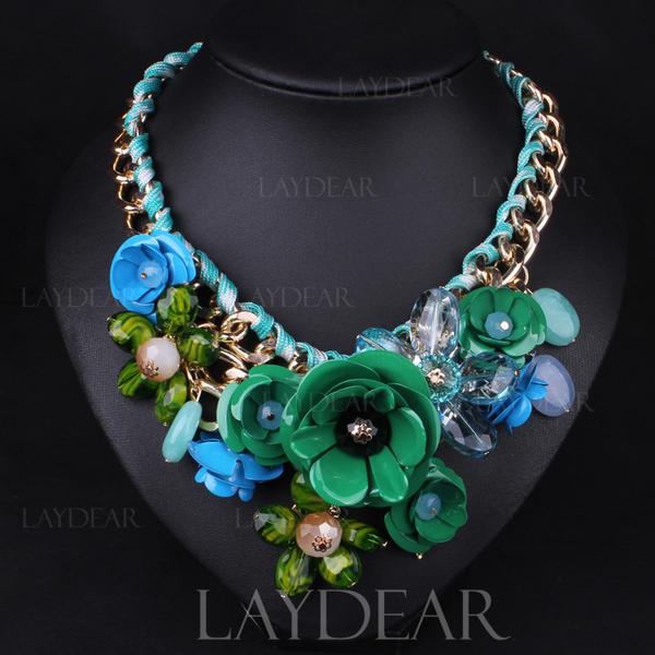 Modisch Legierung Harz Damen Mode-Halskette