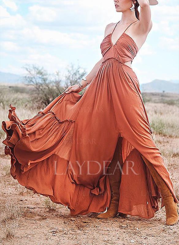 a809ed0d3c Jednolita Bez rękawów W kształcie litery A Asymetryczna Casual Wakacyjna  Sukienki
