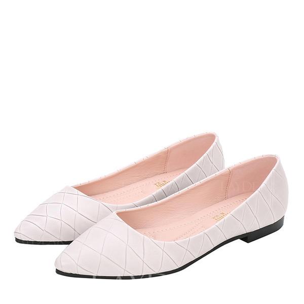775faad4 De mujer Cuero Tacón plano Planos Cerrados zapatos (086163199 ...