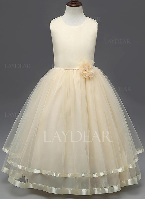 467c2fd021 Dziewczyny Okrągły Dekolt Kwiatowy Ładny Party Sukienka (1009226371 ...