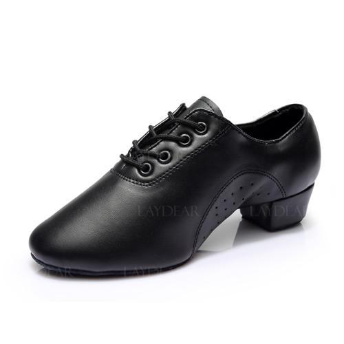 Herren Latin Ballsaal Training Charakter Schuhe Heels Kunstleder Latin