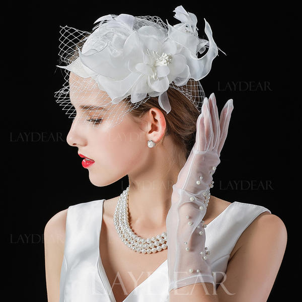108ff7b05bb Ladies  Beautiful Fashion Elegant Cambric With Tulle Fascinators ...