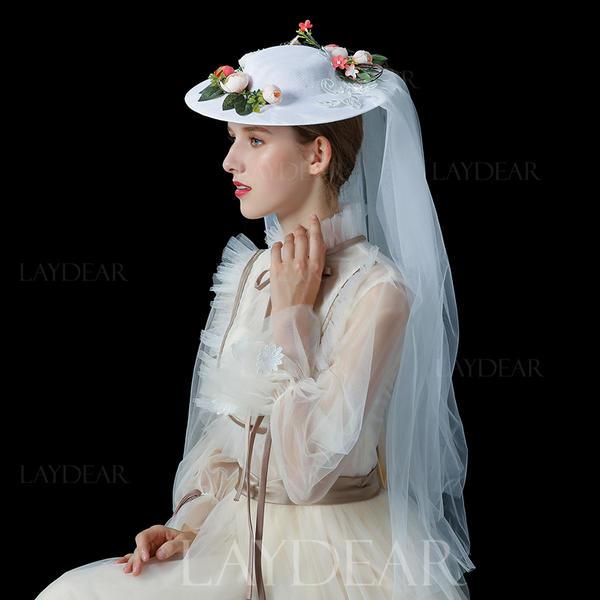5bf2983c Damene ' Mote/Glamorøse/Elegant Cambric med Tyll Baqueira Hatt ...