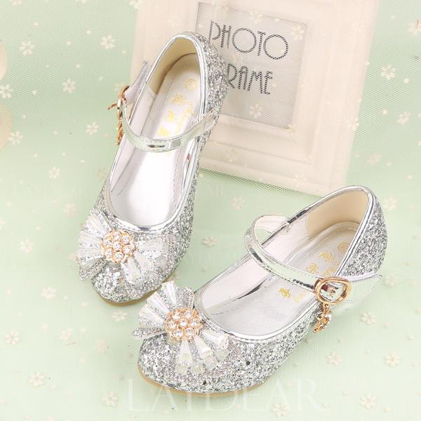 0a65c9e6d52 Κλειστά παπούτσια Κορίτσι λουλουδιών Με Bowknot Τεχνητό διαμάντι Velcro