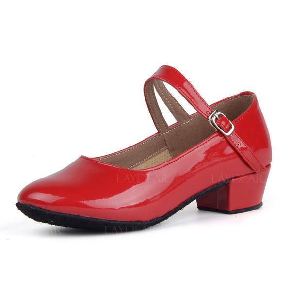 Frauen Charakter Schuhe Heels Kunstleder mit Schnalle Latin