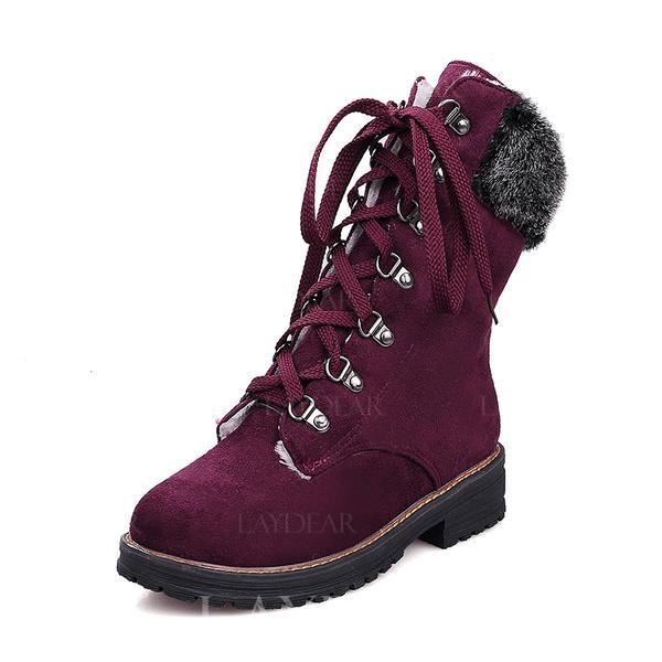 40bd879a163 Γυναίκες Καστόρι Χαμηλή τακούνια Κλειστά παπούτσια Μπότες Μίνι μπότες Μποτες  χιονιού Με Κέντημα-επάνω παπούτσια