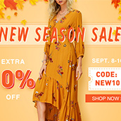 New Season Sale! EXTRA 10% OFF!