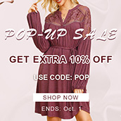 POP-UP SALE! EXTRA 10% OFF!