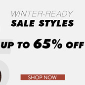 Ready for winter? Hot styles on SALE now!