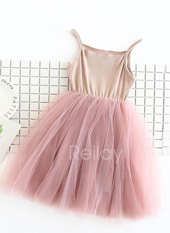 50ec3a0d01 Lányok Vékony pánt Alkalmi Aranyos Ruha (1009226190) - Kislány ruhák ...
