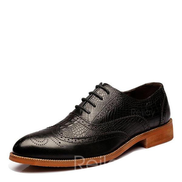 f121773c9eb4 Blondér Brogue Pæne sko Microfiber Læder Mænd Oxfords til Herrer ...