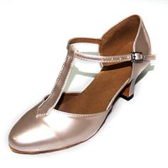Women's Ballroom Pumps Patent Leather With T-Strap Latin