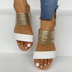 Dla kobiet Zamsz Płaski Obcas Z Tkanina Wypalana obuwie