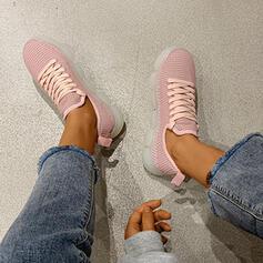 Mulheres Tecido Casual Outdoor com Aplicação de renda sapatos