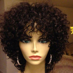 4A Non remy Curly Human Hair Capless Wigs 150g