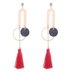 Fashionable Copper Ladies' Fashion Earrings
