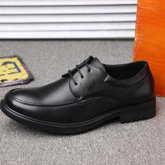 Cordones U-Tip Zapatos de vestir Cuero Hombres Zapatos Oxford de caballero