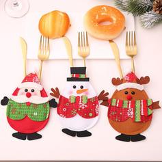 joyeux Noël Bonhomme de neige Renne Tissu non tissé Couverture de vaisselle
