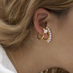 élégant Alliage avec Perle d'imitation Parures Boucles d'oreilles (Lot de 2)