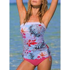 Bandage Strapless Boho Tankinis Swimsuits