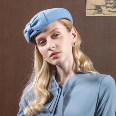 Signore Semplice Lana con Bowknot Basco Cappello
