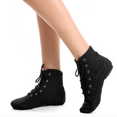 Women's Jazz Flats Boots Canvas Jazz