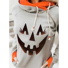 Print Halloween Lange Mouwen Hoodie