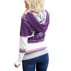Тваринний візерунок Кишені Довгі рукави Різдвяні светри