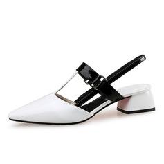 Femmes Cuir verni Talon bottier Escarpins Bout fermé Escarpins chaussures