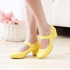 Femmes Similicuir Talon bottier avec Velcro chaussures