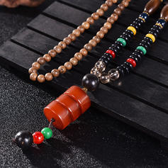 Fashionable Exotic Chic Wooden Beads Unisex Necklaces