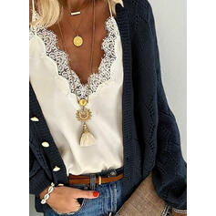 Solid Graphic Casual Cardigan