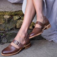 De mujer PU Tacón bajo Cerrados con Hebilla zapatos