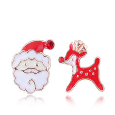 Sika Deer Father Christmas Alloy Earrings Christmas Jewelry