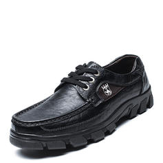 Lace-up U-Tip Casual Work Real Leather Men's Men's Oxfords