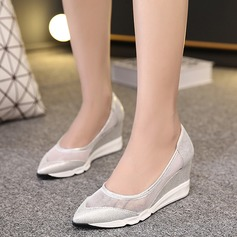 Women's Leatherette Wedge Heel Wedges With Others shoes