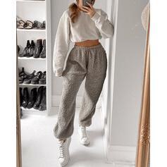 Solido Lungo Casuale Lungo A righe Pantaloni