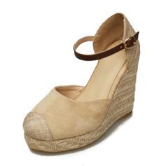 Dla kobiet Zamsz Obcas Koturnowy Koturny obuwie