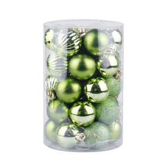 "Merry Christmas 34 PCS 2.36"" PVC Christmas Décor Ball (Set of 34)"