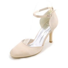 Women's Silk Like Satin Stiletto Heel Pumps With Others