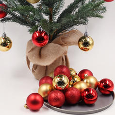 "Merry Christmas 24 PCS 3.94"" PVC Christmas Décor Ball (Set of 24)"