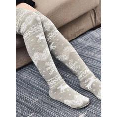Print/Jul Rensdyr Varm/Kvinders/Jul/Knæhøje sokker Sokker/Strømper