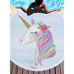 Tassel/Bohemia/Gradient color/Animal Print/Colorful Light Weight/Multi-functional/Colorful/Sand Free/Quick Dry/Animal Designed Beach Towel