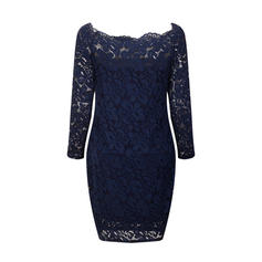 Lace/Solid Long Sleeves Bodycon Above Knee Sexy/Party/Elegant Dresses